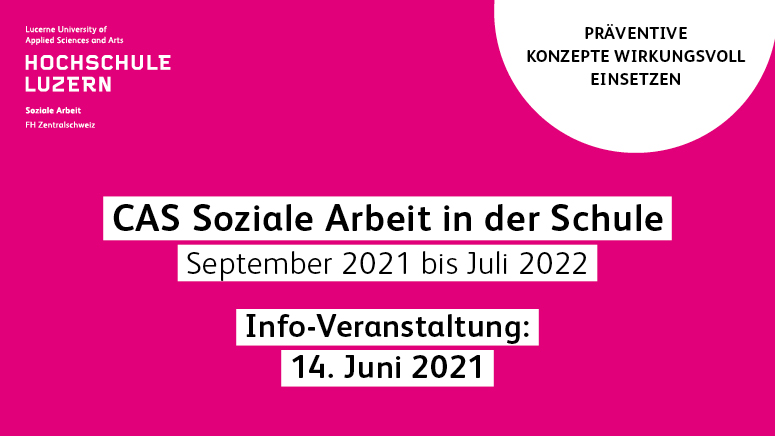 CAS Soziale Arbeit in der Schule - Hochschule Luzern