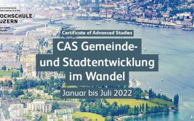 Hochschule Luzern: CAS Gemeinde- und Stadtentwicklung im Wandel