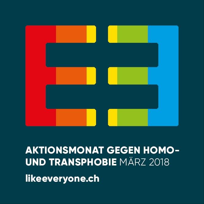 «LIKEƎVERYONE»: Aktionsmonat gegen Homo-und Transphobie