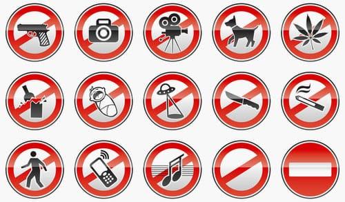 Regeln und Verbote