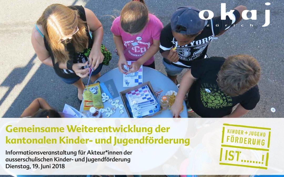 Info-Veranstaltung kantonale Kinder- und Jugendförderung Zürich